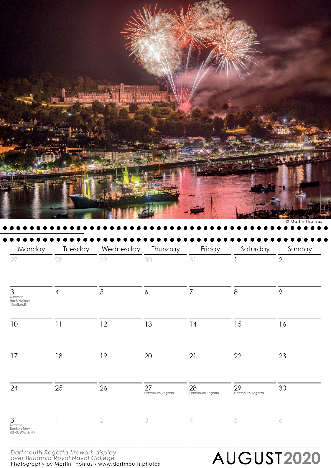 Dartmouth 2019 Calendar